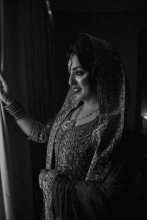 Indian bride Monochrome