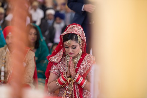 Sikh Bride during Anand Karaj